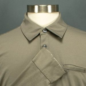 Banana Republic Casual Collared Shirt Sz L Taupe